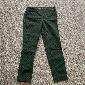 Green Mid-Rise Pants